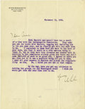 Autographs:Artists, Stanford White Typed Letter Signed ...