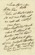 Autographs:Non-American, Duke of Wellington Autograph Letter Signed, ...