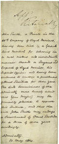 Autographs:Non-American, Queen Victoria Signed Document, ...
