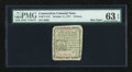 Colonial Notes:Connecticut, Connecticut October 11, 1777 3d PMG Choice Uncirculated 63 EPQ....