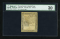 Colonial Notes:Pennsylvania, Pennsylvania April 20, 1781 9d PMG Very Fine 30....