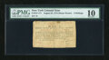 Colonial Notes:New York, New York August 25, 1774 (Water Works) 8s PMG Very Good 10....