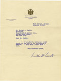 Autographs:U.S. Presidents, Franklin D. Roosevelt: Typed Letter Signed as New York Governor....(Total: 2 Items)