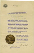 Autographs:U.S. Presidents, Franklin D. Roosevelt: Document Signed as New York Governor....