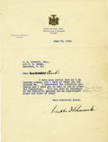 Autographs:U.S. Presidents, Franklin D. Roosevelt: Typed Letter Signed with HolographicCorrection as New York Governor....