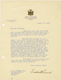 Autographs:U.S. Presidents, Franklin D. Roosevelt: Typed Letter Signed as New York Governor.... (Total: 2 Items)