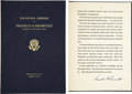 Autographs:U.S. Presidents, Franklin D. Roosevelt: Bound Limited Edition- 1933 Inaugural Address Signed as President....