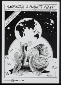 "Escape from the Planet of the Apes (20th Century Fox, 1971). Polish One Sheet (27"" X 38""). Science Fiction"