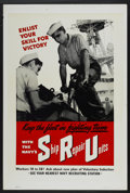 "Movie Posters:War, WWII Propaganda Poster (1943). Poster (28"" X 42"") ""Ship RepairUnits."" War...."