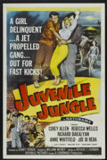 "Movie Posters:Crime, Juvenile Jungle (Republic, 1958). One Sheet (27"" X 41"") Style A.Tri-Folded. Crime...."