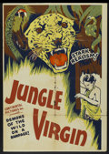 "Movie Posters:Adventure, Jaws of the Jungle (Continental, R-1946). One Sheet (27"" X 41"").Re-released as Jungle Virgin. Adventure...."