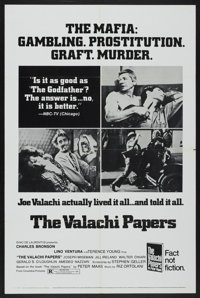 """The Valachi Papers (Columbia, 1972). One Sheet (27"""" X 41"""") Style C. Crime"""