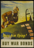 "Movie Posters:War, Keep Him Flying World War II War Bonds Poster (1940s). One Sheet(27.5"" X 39""). War...."