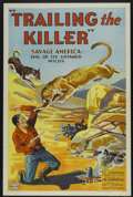 "Movie Posters:Adventure, Trailing the Killer (World Wide, 1932). One Sheet (27"" X 41"") StyleB. Tri-Folded. Adventure...."