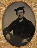 Photography:Ambrotypes, Ninth Plate Ambrotype of Union Sailor....