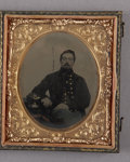Photography:Tintypes, Cased Sixth Plate Tintype of Identified Massachusetts Draftee....