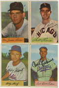 Autographs:Sports Cards, 1954 Bowman Baseball Autographed Cards Group Lot of 94. One of the favored Bowman issues from the 1950's, the 1954 Bowman s...