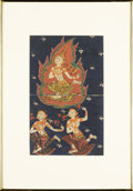 Asian:Other, AN ANTIQUE THAI PAINTING. 10-1/2 x 6-1/2 inches (26.7 x 16.5 cm)....