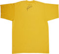 Golf Collectibles:Autographs, Circa 2000 Tiger Woods Signed T-Shirt. Tiger's reputation as atough autograph is well-deserved, but even this golf great c...