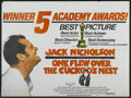 "Movie Posters:Academy Award Winner, One Flew Over the Cuckoo's Nest (United Artists, 1975). BritishQuad (30"" X 40"") Academy Award Style. Academy Award Winner...."