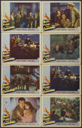 "Movie Posters:War, Night Plane from Chungking (Paramount, 1943). Lobby Cards (8) (11""X 14""). War.... (Total: 8 Items)"