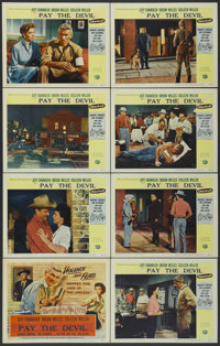 "Man in the Shadow (Universal, 1958). Lobby Card Set of 8 (11"" X 14""). Released in the UK as Pay the Devil. Dra..."