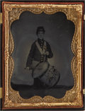 Photography:Ambrotypes, Quarter Plate Ambrotype of Union Drummer Boy....