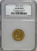 Early Quarter Eagles, 1802/1 $2 1/2 --Repaired, Whizzed--AU50 NCS. AU Details. NGCCensus: (5/75). PCGS Population (7/40). Mintage: 3,035. Numisme...