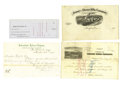 Miscellaneous:Ephemera, Four Sharps Rifle Company Documents ca 1870s - ... (Total: 4 Items)