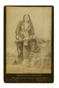 """Military & Patriotic:Indian Wars, Cabinet Card Photograph of """"Mountain Panther,"""" Warm Spring Indian Chief, ca. 1890s. ..."""