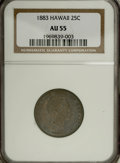 Coins of Hawaii: , 1883 25C Hawaii Quarter AU55 NGC. NGC Census: (36/634). PCGSPopulation (71/1044). Mintage: 500,000. (#10987)...