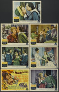 "Movie Posters:Adventure, The Three Musketeers (MGM, 1948). Title Lobby Card and Lobby Cards(6) (11"" X 14""). Adventure.... (Total: 7 Items)"