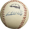 "Autographs:Baseballs, 1970's Satchel Paige Single Signed Baseball, PSA NM-MT 8. ""I ain'tever had a job,"" the Hall of Fame pitcher once claimed, ..."