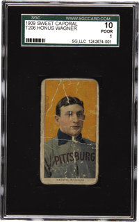 "1909-11 T206 Honus Wagner SGC 10 Poor 1. ""There is something Lincolnesque about him,"" Pulitzer Prize-winning s..."