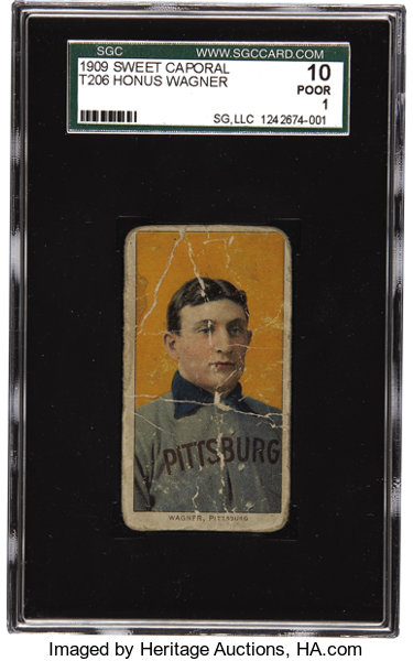 1909 11 T206 Honus Wagner Sgc 10 Poor 1 There Is Something Lot