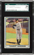 Baseball Cards:Singles (1940-1949), 1941 Playball Charley Gehringer #19 SGC 88 NM/MT 8. Coming off atrip to the 1940 World Series where the Tigers came up one ...