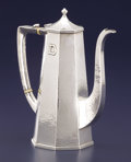 Silver Holloware, American:Tea Pots, AN AMERICAN ARTS & CRAFTS SILVER TEA POT. Lebolt & Co.,Chicago, Illinois, circa 1915. Marks: (L with lion), LEBOLT,HAND ...
