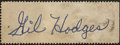 Autographs:Letters, Gil Hodges Cut Signature. While singular examples of the Dodgergreat Gil Hodges signatures a desirable in the hobby, the p...