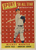 Autographs:Sports Cards, 1958 Topps Signed Mickey Mantle All-Star #487. One of the Mick's more desirable All-Star entries has been graced with the H...
