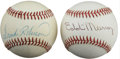 Autographs:Baseballs, Frank Robinson & Eddie Murray Single Signed Baseballs Lot of 2.The boldest of sweet spot ink signatures are offered from t...