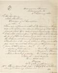 Autographs:Military Figures, Holograph Letter Signed and Initialed by Josiah Gorgas as Confederate Chief of Ordinance, 1864. ...