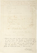 Autographs:Statesmen, Autograph Endorsement Signed by South Carolina Governor Francis W.Pickens, 1862. ...