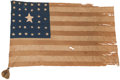 Military & Patriotic:Civil War, Rare Pattern Character Laden 32-Star American Flag Captured at 1st Bull Run by Thomas Cawood, Co. K, 3d Tennessee Infantry (Mo...