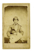 Military & Patriotic:Indian Wars, CDV Photograph of 3rd Cavalry Trooper, Cheyenne, Wyoming Territory, ca. 1870s....