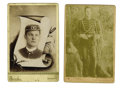 Military & Patriotic:Indian Wars, Lot of Two Cabinet Cards of Fort Wingate, New Mexico Military Musician ca 1890s. ...