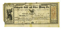Western Expansion:Goldrush, Stock Certificate: Enterprise Gold & Silver Mining Co.Virginia, Nevada Territory, 1863....