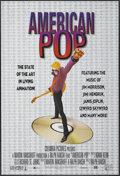 "Movie Posters:Animated, American Pop (Columbia, 1981). One Sheet (27"" X 40""). Animated...."