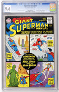 Silver Age (1956-1969):Superhero, Superman Annual #4 (DC, 1961) CGC NM+ 9.6 Off-white to whitepages....