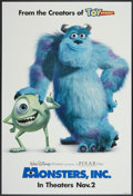 "Movie Posters:Animated, Monsters, Inc. (Buena Vista, 2001). One Sheet (27"" X 40"") DSAdvance. Animated...."
