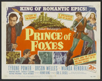 "Prince of Foxes (20th Century Fox, 1949). Title Lobby Card (11"" X 14""). Adventure"
